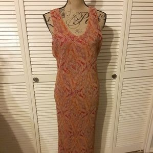 Ice Silk Beaded Dress. NWOT